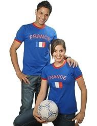 Brubaker Frankreich Fan T-Shirt Blau Gr. S - XXXL