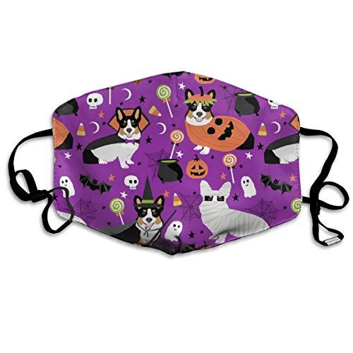 Corgi Halloween-Kostüme Mumie Vampir Geister Just Dog Lila Anti-Staub-Maske Anti-Verschmutzung waschbar wiederverwendbare Mundmasken (Vampire Kostüm Halloween Dog)