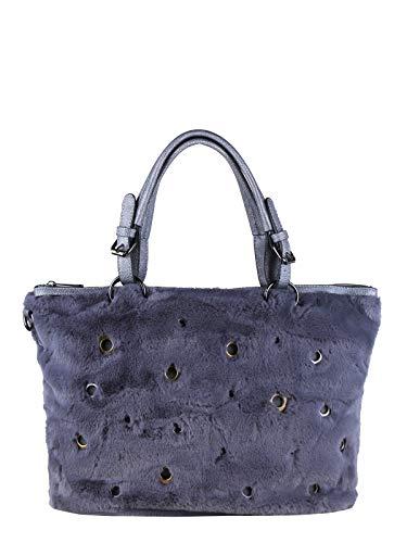 Solada borsa tote in ecopelliccia donna grigio tessuto