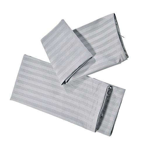 PETSOLA 2 Stücke Baumwolle Kissenbezug Sofa Taille Plain Kissenbezug Wohnkultur - Grau- Größe S -
