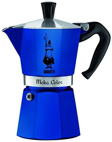 Bialetti - 2042 - Moka Color - Cafetière Italienne en Aluminium - 3 Tasses - Bleu