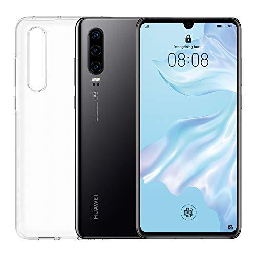 """Huawei P30 (Negro) más cubierta transparente, 6GB RAM, 128 GB memoria, 6.1 Pantalla """"FHD +, Triple cámara trasera de 40 + 16 + 8 Mpx, cámara frontal 32 Mpx"""