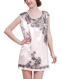 Mujer Ropa De Noche Elegante Mini Vestido Estampadas Patrón Manga Corta Casual O Cuello Batas Anchos