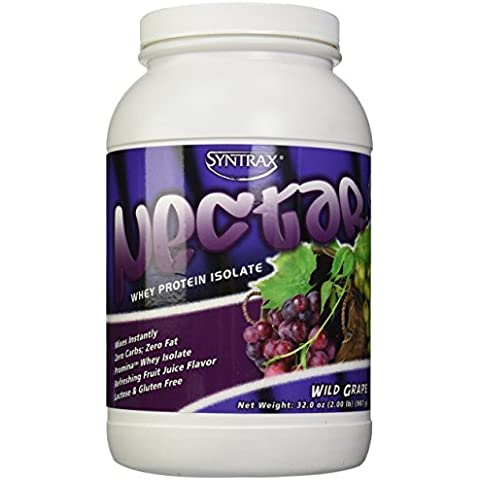 Syntrax Nectar Whey Protein Isolate, Wild Grape, 2 Pound by Syntrax