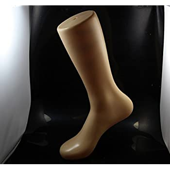 CHENGYIDA 1 Piece Transparent Foot Showcase Female Sock Sox Mold Short Stocking Mannequins Shoe Feet Doll Display Mannequin Feet Model with stand