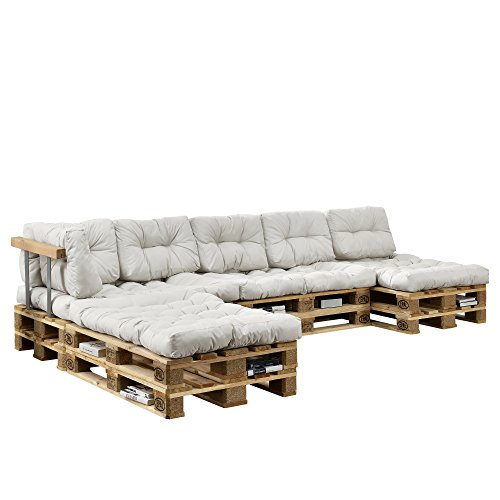 [en.casa] Indoor Palettensofa-Set HTPC-06x