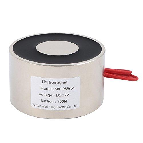 sourcingmap® 12V DC 700N 1.07LB/487g électro-aimant aimant levage électrique Solénoïde levage tenue