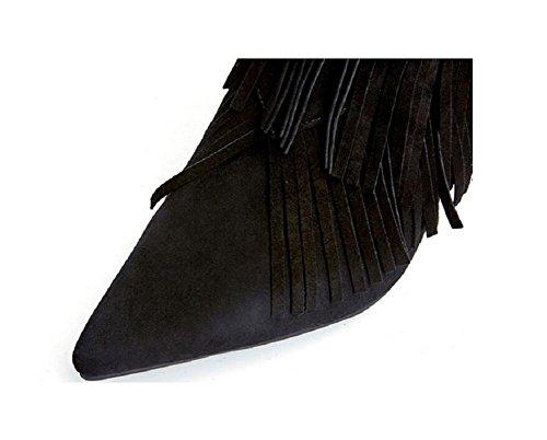 A punta fine con Bare Womens Boots Scrub nappa cuoio genuino stivali femminili , red , 35 34