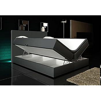 Wohnen Luxus Boxspringbett Grau 140x200 2 Bettkasten Hotelbett Bett