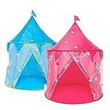 ZXCV Tenda per Bambini Ball Pool Playhouse per Bambini Baby Play Pool Pieghevole Portatile per Bambini Gioco all'aperto in Tenda da Gioco per Bambini,Blue,S