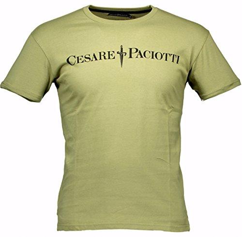 maglia-t-shirt-maniche-corte-uomo-cesare-paciotti-men-short-sleeves-crew-neck-cp05ts-verde-xl