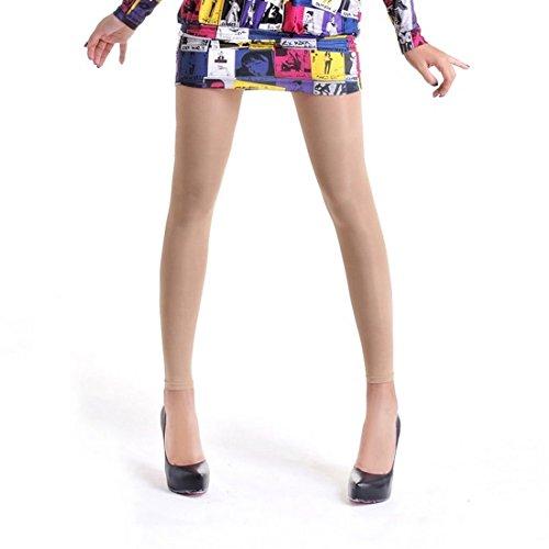 Vertvie Damen Figurformend Leggings Strumpfhose mit Innenfleece in Versch Modellen (L, Hautfarbe ohne Fuß)