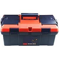 Cassetta degli attrezzi Caja de herramientas de plástico Hogar grande Caja de almacenamiento de herramientas de hardware de múltiples funciones Caja de almacenamiento Hogar Caja de automóvil portátil