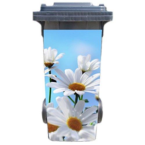 *SHIRT-TO-GO Aufkleber für Mülltonne Mülltonnenaufkleber – Motiv Gänseblumen*
