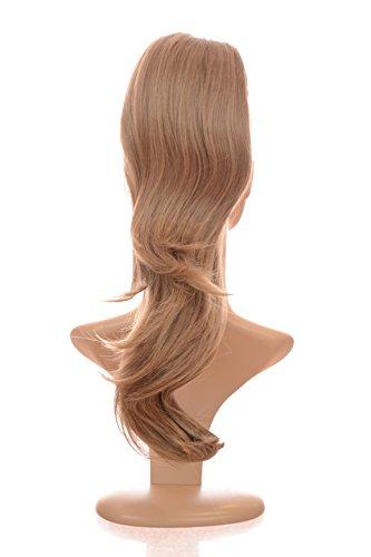 Postiche Queue de cheval Longue et Bouclée Blond Foncé | 40cm de long | Double Style | Système de fixation à cordons