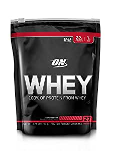 Optimum Nutrition (ON) 100% Whey Protein Powder - 1.76 lbs, 797 g (Strawberry)