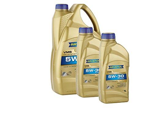 RAVENOL VMS SAE 5W-30 - Olio motore completamente sintetico, 7 (5 + 2) lit