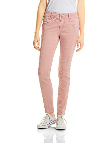 Street One Damen Slim Jeans 370911 Rob, Rosa (Studio Rose Authentic Wash 11033), W33/L32 (Rose Hose Jeans)