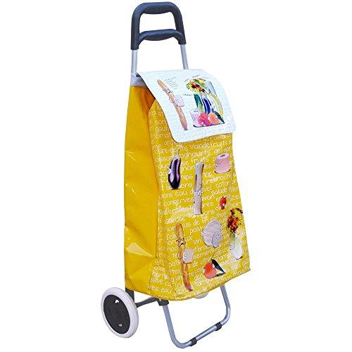 Promobo -Chariot De Courses A Roulettes Cabas Shopping Design Ludique Appel Ecole