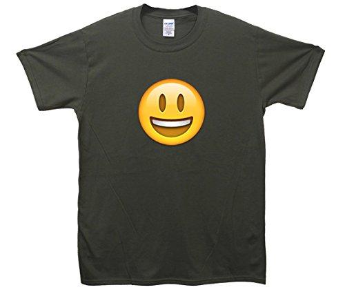 Smiley Face Emoji T-Shirt Khaki