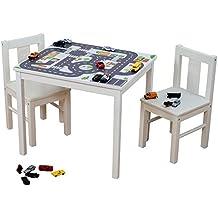 Möbelaufkleber Straßen - passend für IKEA KRITTER Kindertisch - Kinderzimmer Spieltisch - Möbel nicht inklusive