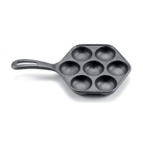 Norpro Cast Iron Danish Aebleskiver Pan Makes 7 Filled Pastries NEW