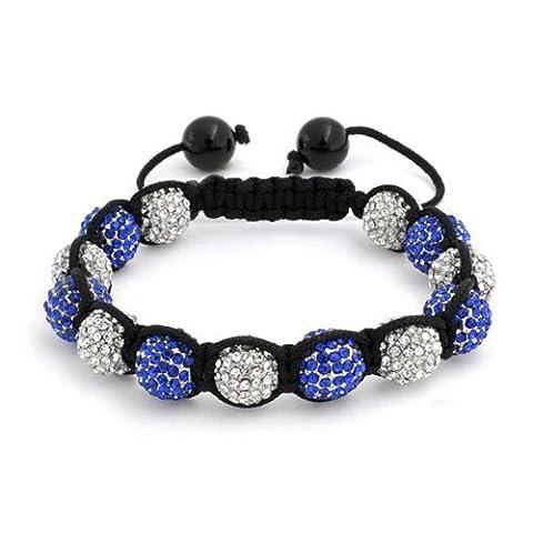 Bling Jewelry Shamballa Bracelet Bijoux inspiré simulé en alliage de Saphir