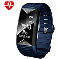 YAMAY Fitness Tracker HR, Activity Tracker Watch with Heart Rate Monitor Waterproof IP67 Smartwatch Step Counter Pedometer Watch for Women Men Call SMS SNS notification Push for iOS and Android Phone