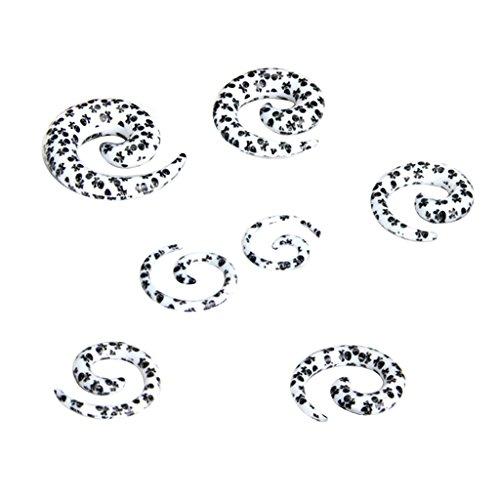 7 Stk. Acryl Spiral Ohr Dehnstabr Taper Stecker -