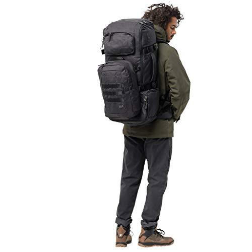 Jack Wolfskin Unisex-Erwachsene TRT 75 Pack jerk sack de voyage Reiserucksack, Schwarz (phantom), One Size -