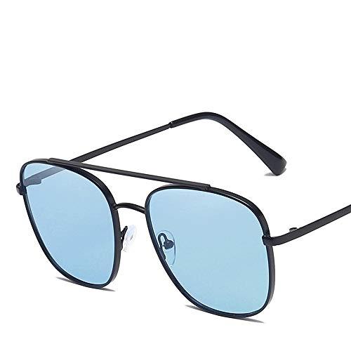 Yiph-Sunglass Sonnenbrillen Mode Sport Aviator Sonnenbrillen Herren Damen Polarisierte Linse Metallrahmen Sonnenbrillen (Farbe : Blau, Größe : Casual Size) (Sonnenbrillen, 53mm Aviator)