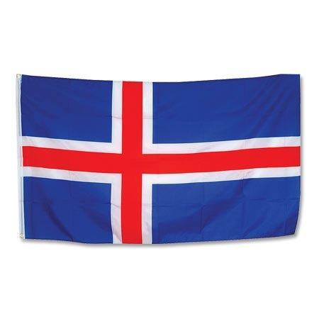Islande Drapeau 90 x 150 cm - Unisexe-adulte, Bariolé, taille unique