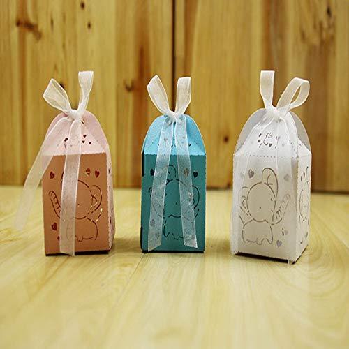 50 stücke cartoon elefant souvenirs baby shower geburtstag dekoration partei liefert pralinenschachtel pralinenschachtel geschenke für ()