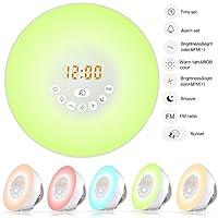 Wake Up Licht, Digitaluhr Sunrise/Sunset Feature 7 Farben Lichter 6 Natural Sounds & FM Radio Snooze-Funktion preisvergleich bei billige-tabletten.eu
