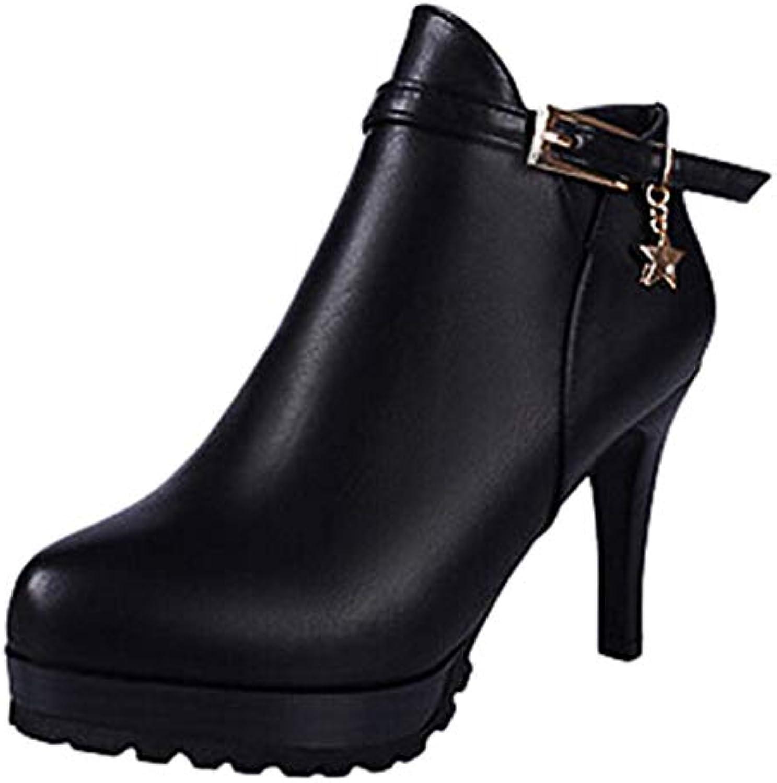 ALIKEEY Boucle De Ceinture pour Femme Martin Bottes Martin Femme à Fermeture à GlissièRe Chaussures Simples Bottines à Talons...B07JR7WRWZParent 6e8c1a