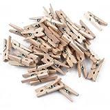 Mini pince à linge en bois x48