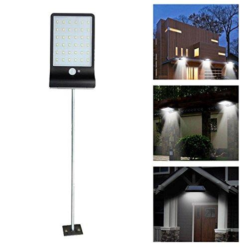 sunnymi Solar-Bewegungs-Sensor-Lichter/Gartensicherheitsleuchten/36 LED/Wasserdicht Bewertet IP65/Am Besten Für Den Außenbereich (Blasen Besten Maschine)