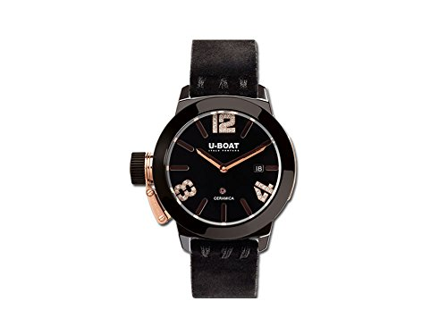 U-Boat Classico Automatic Watch, Ceramic, Black, 42mm, 7123