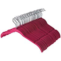 ZOBER - 60 Pack, Premium Quality Space Saving Velvet Shirt Hangers Strong and Durable with 360 Degree Chrome Swivel Hook - Non Slip Dress Hangers with Contoured Shoulders and Notches for Straps
