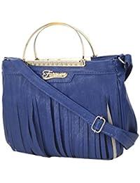 Style Villaz Women Blue Sling Bag
