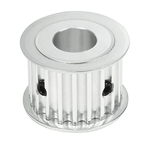 sourcingmap® Synchronous Wheel 20T-5M 20 Teeth 14mm Bore Aluminum Timing Pulley 21mm Width Belt