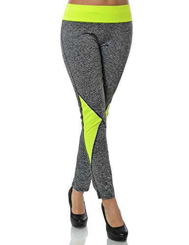 Damen Sport Freizeit leggings Fitnes Hose Training Leggins Gr.L Tezenis