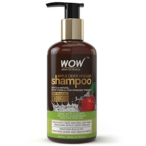 WOW Apple Cider Vinegar No Sulphate & Parabens Shampoo, 300ml