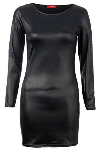 fast-fashion-robe-midi-plus-size-wetlook-elastiquee-bodycon-femmes-xl-44-46-bodycon-robe