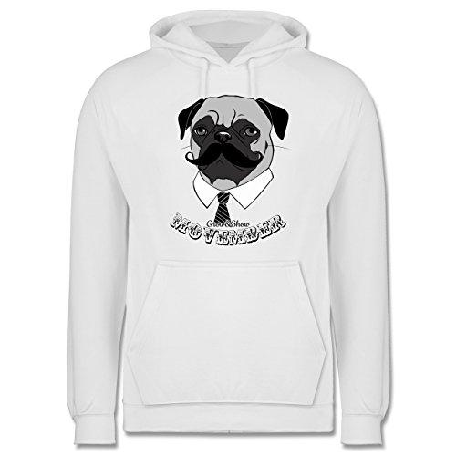 Statement Shirts - Movember Mops - Männer Premium Kapuzenpullover / Hoodie Weiß