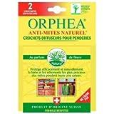 Orphéa - Anti-Mites Naturels Textile - Crochets Diffuseurs Fleurs x 2