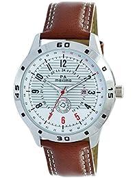 MAXIMA Analog White Dial Men's Watch - O-52020LMGI