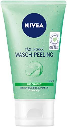 NIVEA Tägliches Wasch-Peeling für Mischhaut, 150 ml Tube