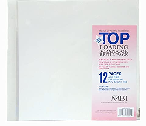 MBI by MCS Industries 6 Sheet Count 12-Page Scrapbook Expansion Pages, Multi-Colour, 12 x 12-Inch