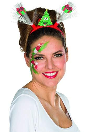 Rubie's LED Weihnachtshaarreif Geschenke Haarreif Weihnachten Weihnachtsmarkt Weihnachtsfeier